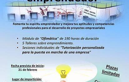 La Concejalía de Desarrollo Local de Cehegín organiza el curso, «Descubre tu espíritu emprendedor», destinado a jóvenes de Garantía Juvenil