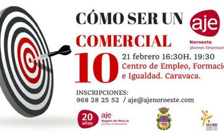 Abierto en Caravaca el plazo de inscripción en el taller gratuito 'Cómo ser un comercial 10'