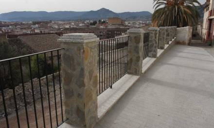 Terminan las obras del muro de contención de la Calle Portillo de Cehegín