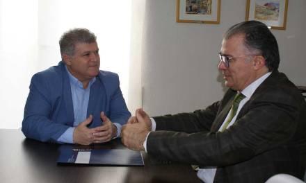 Reunión con el director general de Relaciones Laborales y Economía Social de la CARM con el Alcalde de Calasparra