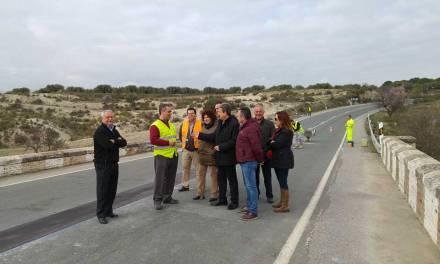 Fomento repara las bóvedas y el firme del puente de la carretera que conecta Moratalla con Caravaca y Calasparra