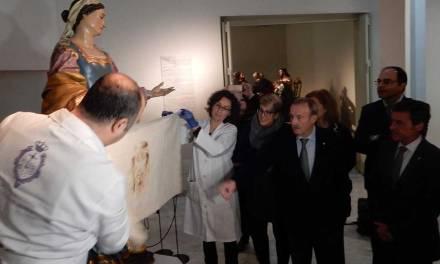 Las tallas de San Juan y La Verónica de Salzillo viajan a Caravaca de la Cruz para la exposición con motivo del Año Jubilar