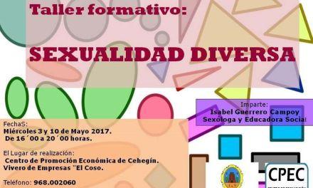 La Concejalía de Mujer e Igualdad de Cehegín organiza un taller formativo sobre sexualidad diversa