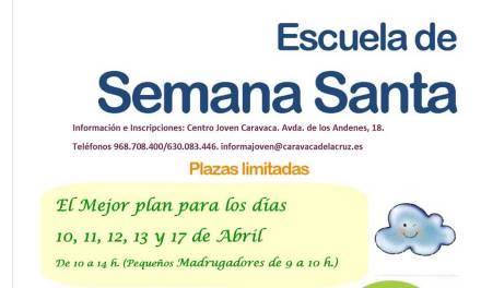 La Concejalía de Juventud del Ayuntamiento de Caravaca abre el plazo de inscripción en la 'Escuela de Semana Santa'