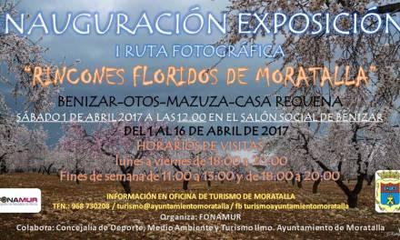 La Exposición de fotografías de la ruta Rincones Floridos de Moratalla se inaugura el sábado
