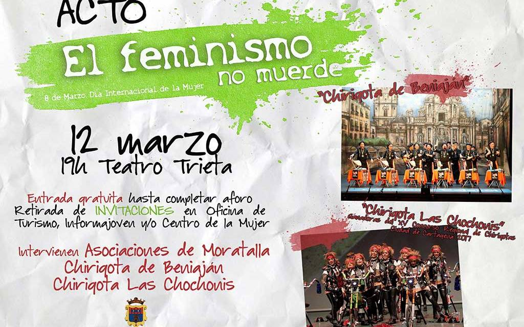 Jornada de convivencia en Moratalla y acto «el feminismo no muerde» para cerrar las actividades del Día Internacional de la Mujer
