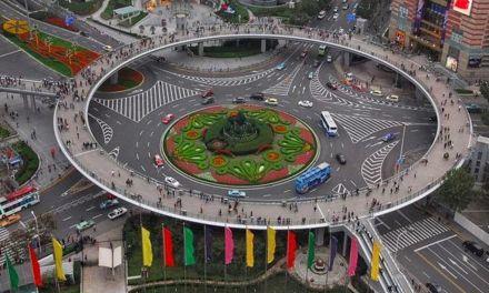 Rotonda y ciudad