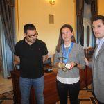 Recibimiento oficial a la ceheginera Laura Durán Morote, campeona de España cadete de Duatlón