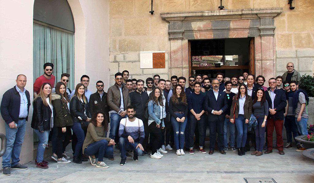 Alumnos y profesores de Ingeniería de la UCAM visitan Caravaca con motivo del Año Jubilar 2017