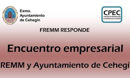 El Ayuntamiento de Cehegín y la FREMM realizarán un encuentro empresarial el próximo 29 de mayo