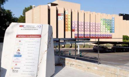 La Facultad de Química ya luce en su fachada una tabla periódica gigante