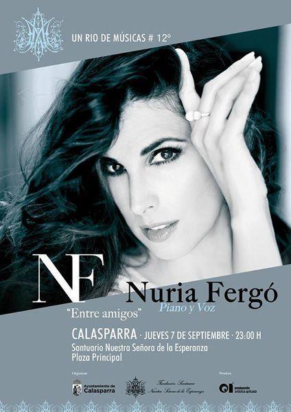 Nuria Fergó actuará durante la Romería Nocturna al Santuario de Nuestra Señora de la Esperanza