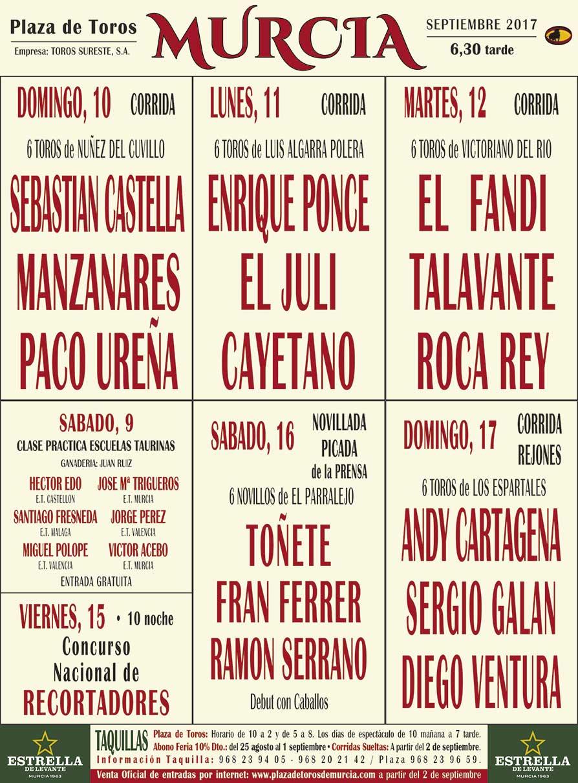 Feria Toros Septiembre 2017