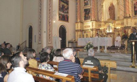 Misa en Calasparra en honor a la Virgen del Pilar, patrona de la Guardia Civil