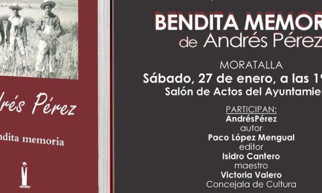 """El moratallero Andrés Pérez publica """"Bendita Memoria"""", """"un documento excepcional para conocer una época"""""""