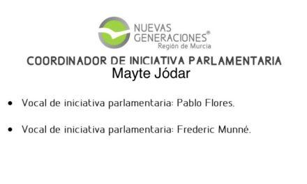La caravaqueña Mayte Jódar, nueva coordinadora de Iniciativa Parlamentaria de NNGG de la Región de Murcia