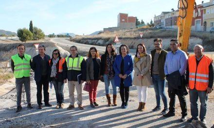 Comienzan las obras de la intersección de la carretera RM-B18 de Bullas a La Copa