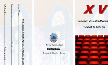 Abierto el plazo de inscripciones para el XV Certamen de Teatro Aficionado 'Ciudad de Cehegín'