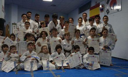 Alumnos aventajados de taekwondo en el Gimnasio Sin