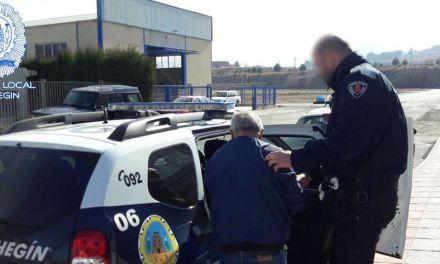 La Policía Local de Cehegín detiene a un individuo como presunto autor de un delito de tráfico de drogas