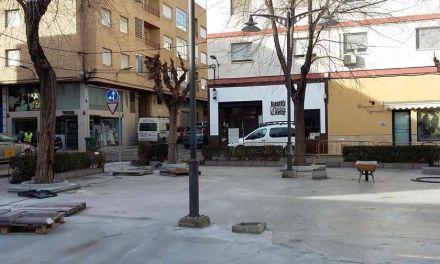Las obras de reforma de la Plaza de los Templarios de Caravaca estarán concluidas a finales de mes