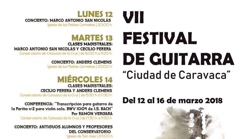 El Festival de Guitarra 'Ciudad de Caravaca' se celebra esta semana con clases magistrales, conferencias y conciertos