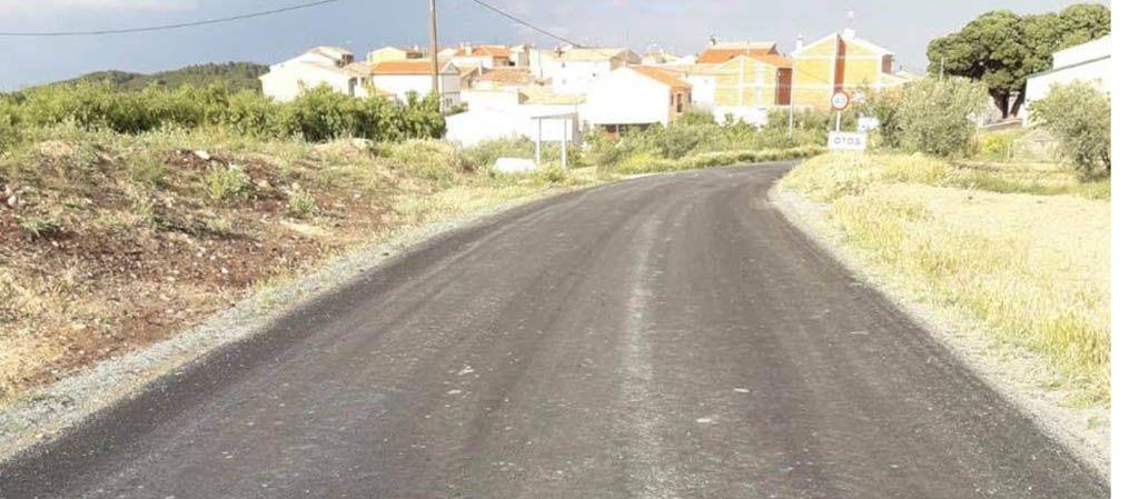 Se han arreglado 3 kilómetros de la carretera RMB-30 desde la entrada de Otos hasta el cruce con Mazuza