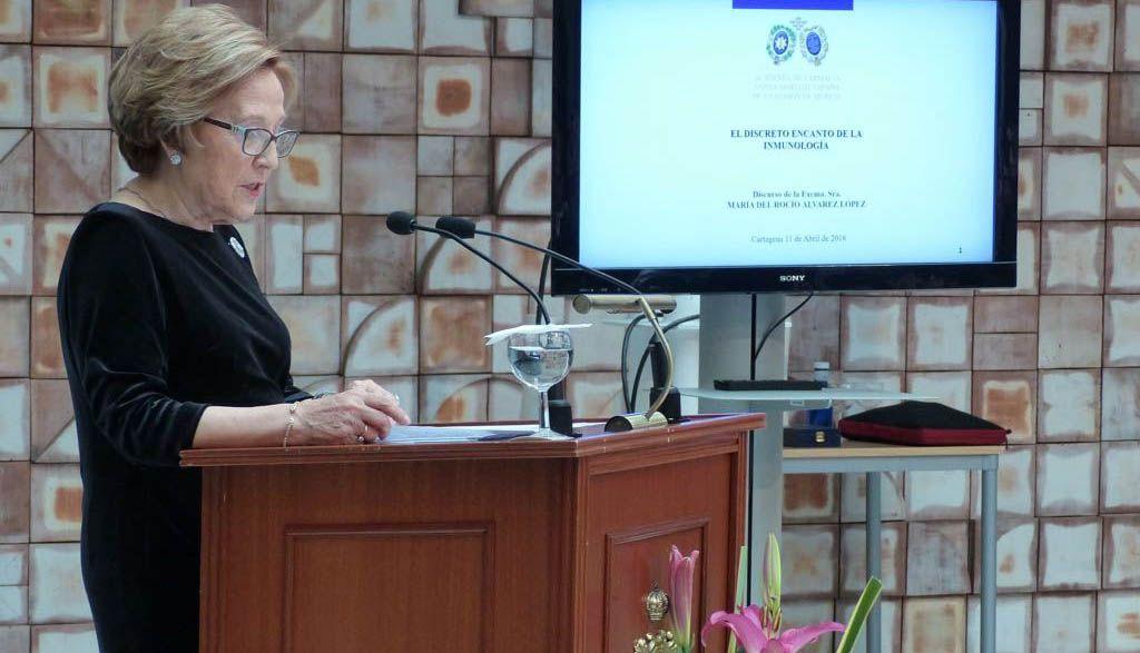 La doctora Rocío Álvarez López ingresa en la Academia de Farmacia de la Región de Murcia
