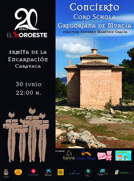 El Noroeste acerca la música coral a la ermita de La Encarnación con la 'Schola Gregoriana de Murcia'