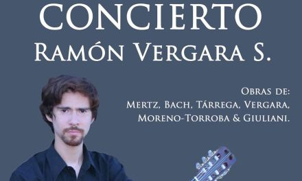 El músico chileno Ramón Vergara ofrece un concierto de guitarra clásica este viernes en el Claustro del Castillo