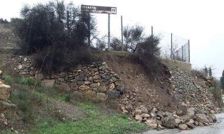 Un muro de 140 metros junto al yacimiento de Begastri evitará nuevos desprendimientos