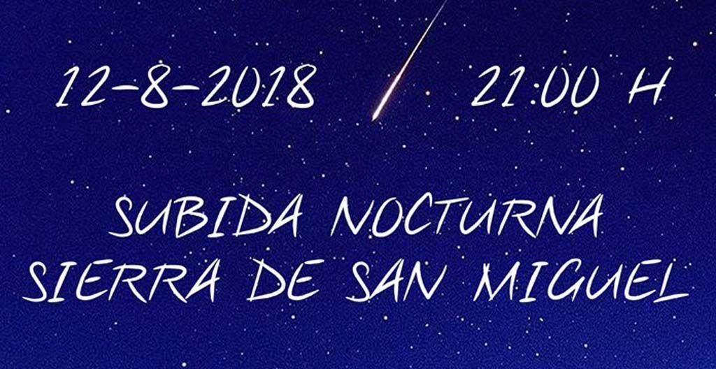 Subida a la sierra de San Miguel y observación de las estrellas
