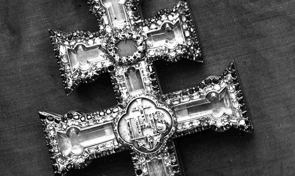La primera fotografía conocida de la Cruz de Caravaca