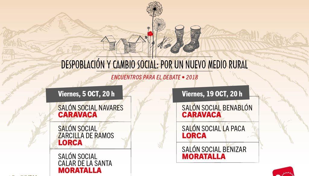 IU-Verdes organiza junto al GUE unas jornadas sobre despoblación en seis pedanías de Lorca, Caravaca y Moratalla