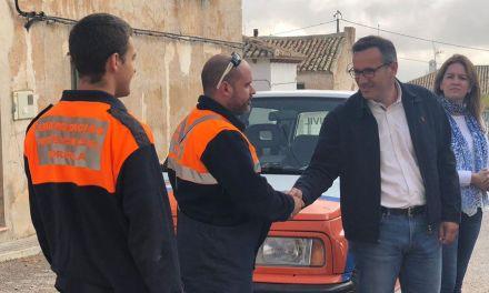 El Delegado del Gobierno, Diego Conesa, visita las zonas afectadas por las lluvias en Cañada de la Cruz