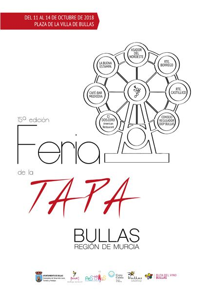 Bullas celebra desde hoy hasta el domingo la XV Feria de la Tapa
