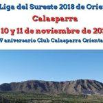 Calasparra acoge la Final de la Liga del Sureste 2018 de Orientación los próximos 10 y 11 de noviembre