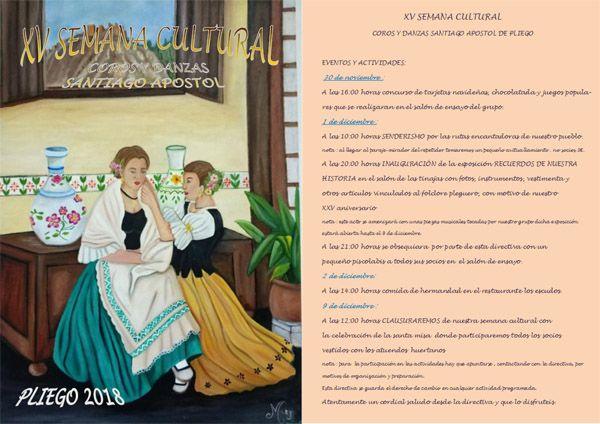 comienza la XV Semana Cultural organizada por los Coros y Danzas Santiago Apóstol.