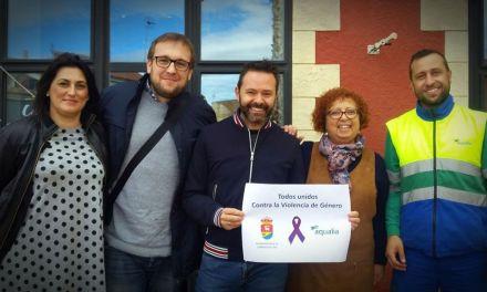 El Ayuntamiento de Campos del Río y Aqualia dicen NO a la Violencia de Género