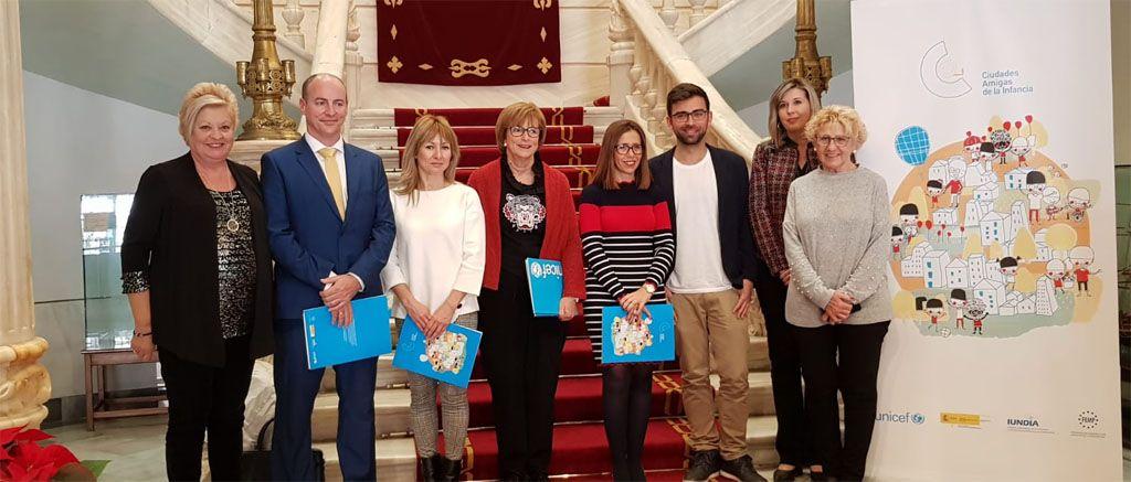 Bullas, Calasparra y Campos del Río asisten a la presentación de las nuevas ciudades amigas de la infancia en Cartagena