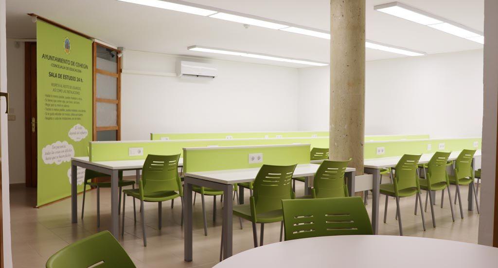 La Concejalía de Educación de Cehegín inaugura la Sala de Estudio 24 Horas de la calle Picasso