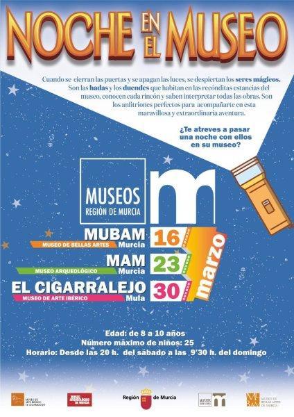 Cultura invita a los niños a pasar una noche mágica en El Cigarralejo de Mula durmiendo en sus salas