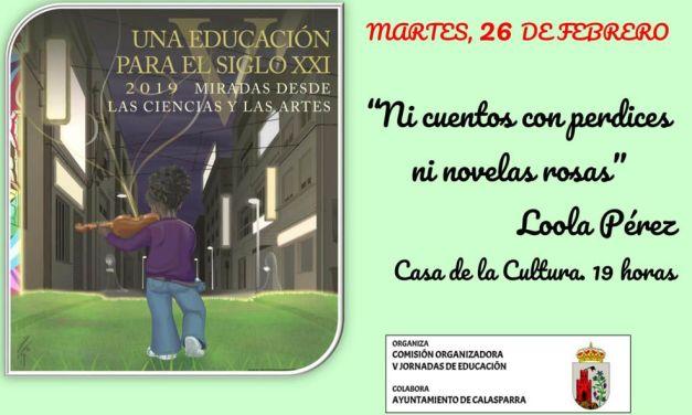 """Salvador Martínez Pérez y Loola Pérez, ponentes en Moratalla y Calaspara en el ciclo """"Una educación para el siglo XXI"""""""