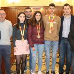 Homenaje a los marchadores de Cehegín que han obtenido medalla en el reciente Campeonato de España