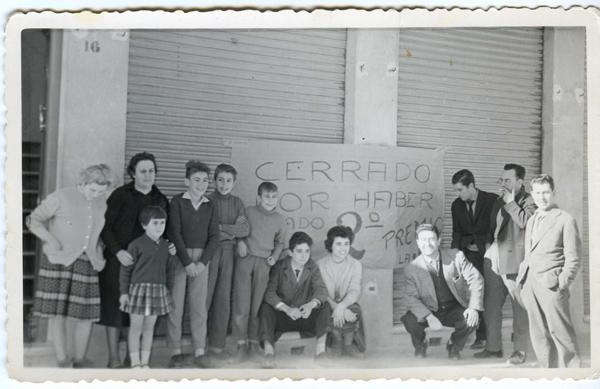 El almacen cerró por la Lotería, en navidad de 1960