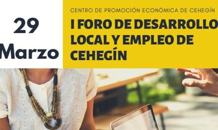 El Centro de Promoción Económica acogerá el 29 de marzo el Foro de Desarrollo Local y Empleo de Cehegín