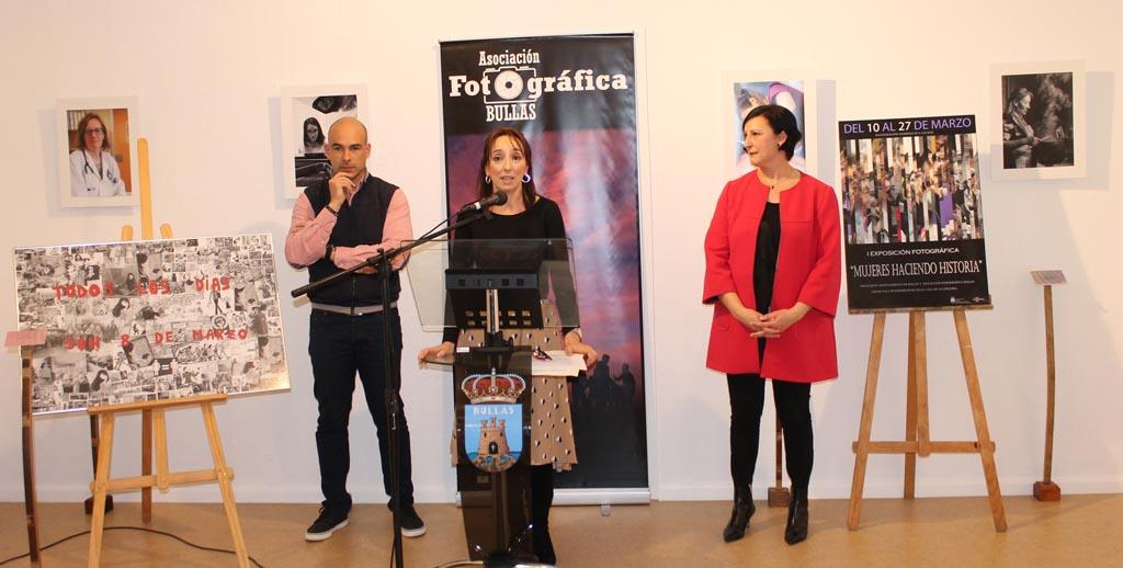 Hasta el 27 de marzo se podrá ver en Bullas la exposición 'Mujeres haciendo historia'