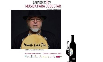 Manuel Luna Trío actúa dentro del ciclo 'Música para degustar'