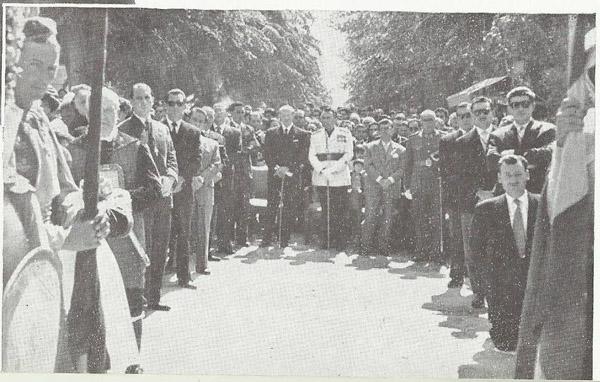 Don Ángel en la Misa de Aparición de 1958