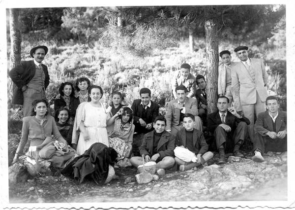 Con profesores y alumnos del Cervantes